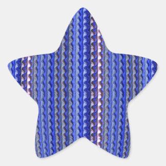 Mega Bright Colorful Purple Geometric Design Star Sticker