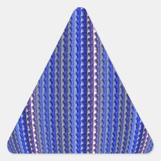 Mega Bright Colorful Purple Geometric Design Triangle Sticker