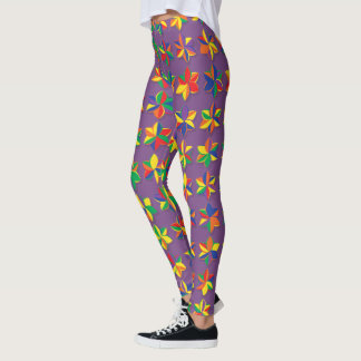 Mega Color Flowers Leggings