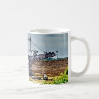 Mega excavator coffee mug