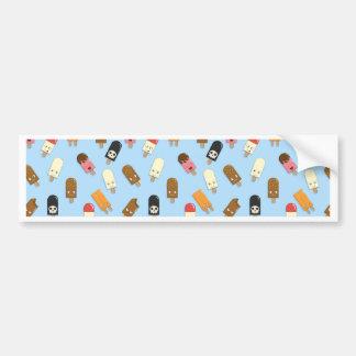 Mega Ice Cream Pattern Bumper Sticker
