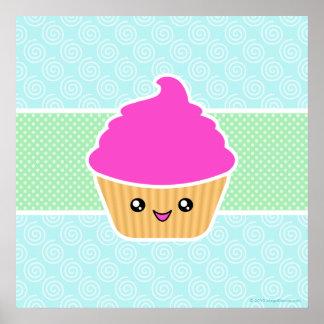 Mega Kawaii Giant Cupcake Poster