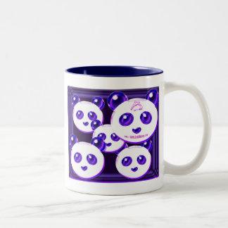 mega panda 9 Two-Tone coffee mug