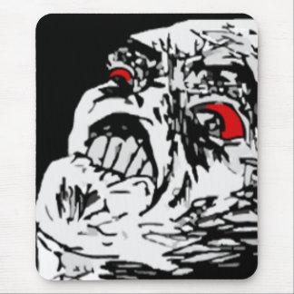 Mega rage comic face mouse pad