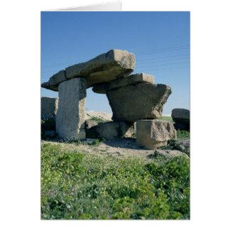 Megalith, prehistoric card