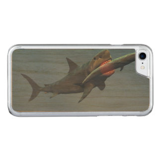 Megalodon eating a whale carved iPhone 8/7 case