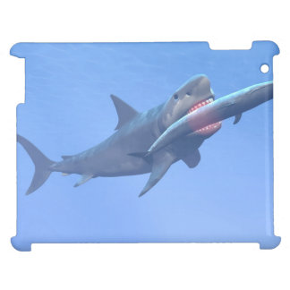 Megalodon eating a whale iPad covers
