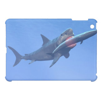 Megalodon eating a whale iPad mini cases