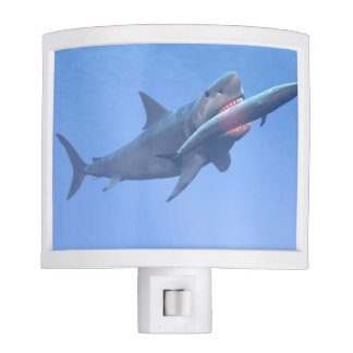 Megalodon eating a whale night light