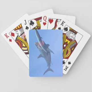Megalodon eating a whale playing cards