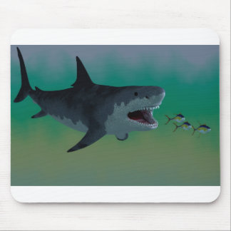 Megalodon Shark Attack Mousepad