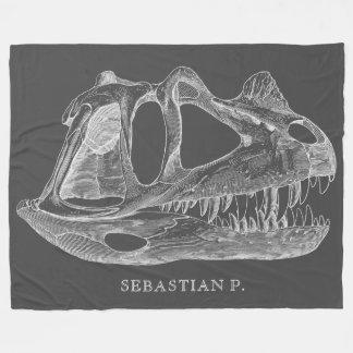 Megalosaurus Dinosaur Bones Paleontology Fleece Blanket