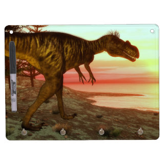 Megalosaurus dinosaur walking toward the ocean dry erase whiteboard
