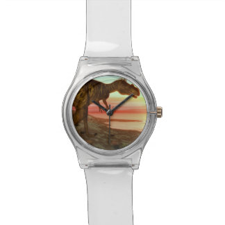 Megalosaurus dinosaur walking toward the ocean wrist watches