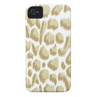 Megan Adams Animal Print Ikat Biege iPhone 4 Cases