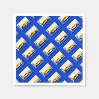 Mégane jaune - Artwork Jean Louis Glineur Paper Napkins