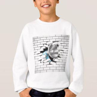 Megaphone Breaking Brick Wall Sweatshirt