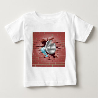Megaphone Breaking Through Brick Wall Baby T-Shirt