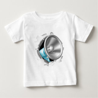 Megaphone Bursting Through Background Baby T-Shirt