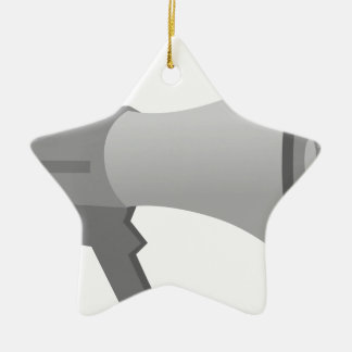 Megaphone Ceramic Ornament
