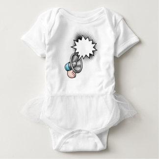 Megaphone Comic Book Speech Bubble Baby Bodysuit
