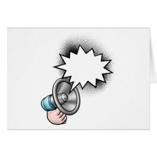 Megaphone Comic Book Speech Bubble Card