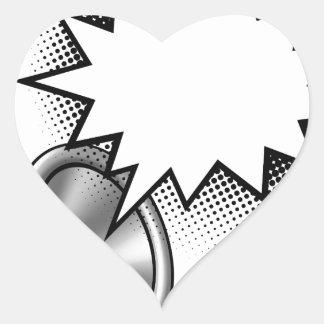 Megaphone Comic Book Speech Bubble Heart Sticker