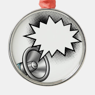 Megaphone Comic Book Speech Bubble Metal Ornament