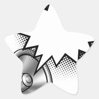 Megaphone Comic Book Speech Bubble Star Sticker