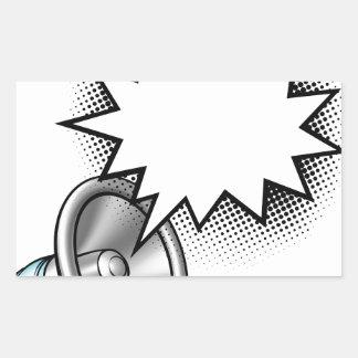 Megaphone Comic Book Speech Bubble Sticker
