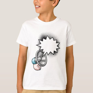 Megaphone Comic Book Speech Bubble T-Shirt
