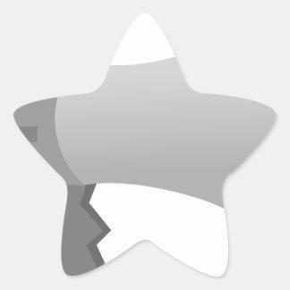 Megaphone Star Sticker