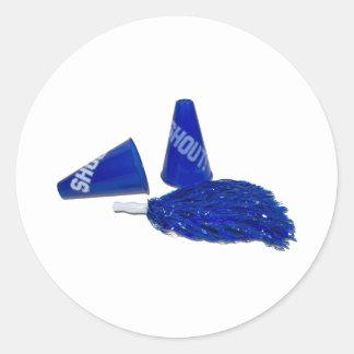 MegaphonesPomPoms091711 Classic Round Sticker