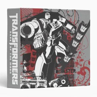 Megatron Grunge Collage 3 Ring Binders