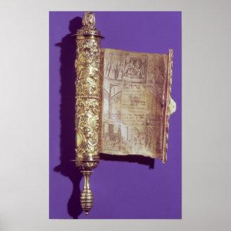 Megillah  in a silver case, Vienna, c.1715 Poster