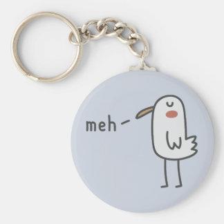 Meh Basic Round Button Keychain