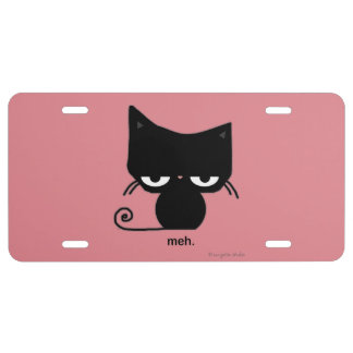 Meh Cat License Plate