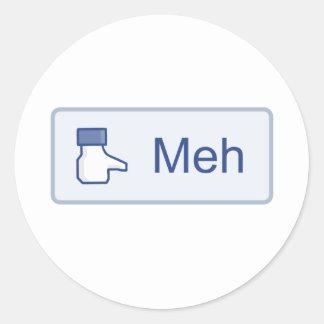 Meh - Facebook Round Sticker