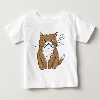 Meh Funny Grumpy Cat Drawing Baby T-Shirt