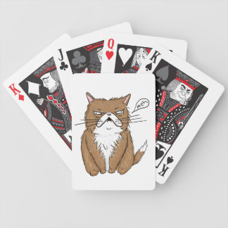 Meh Funny Grumpy Cat Drawing Bicycle Playing Cards