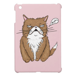 Meh Funny Grumpy Cat Drawing Case For The iPad Mini
