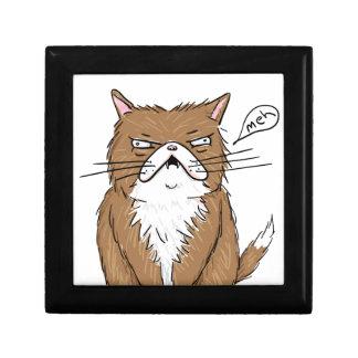Meh Funny Grumpy Cat Drawing Gift Box