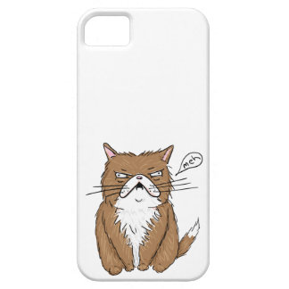 Meh Funny Grumpy Cat Drawing iPhone 5 Case