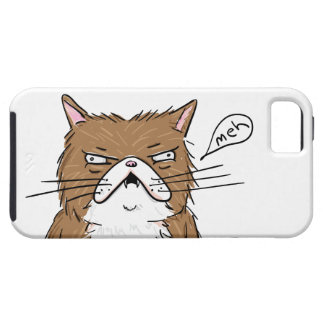 Meh Funny Grumpy Cat Drawing iPhone 5 Cases