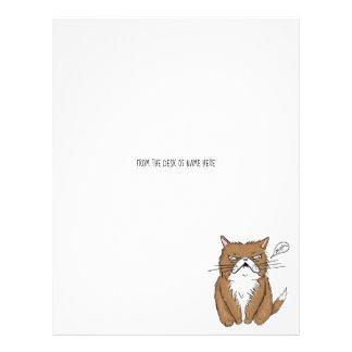 Meh Funny Grumpy Cat Drawing Letterhead