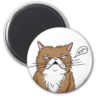 Meh Funny Grumpy Cat Drawing Magnet