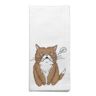 Meh Funny Grumpy Cat Drawing Napkin