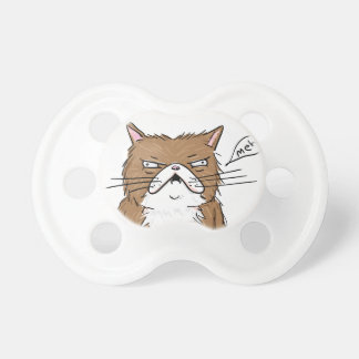 Meh Funny Grumpy Cat Drawing Pacifier