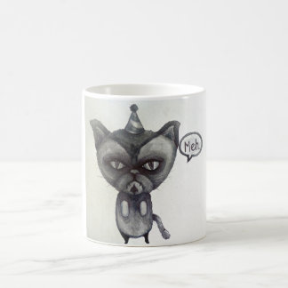 meh grumpy cat party tea coffee mug art