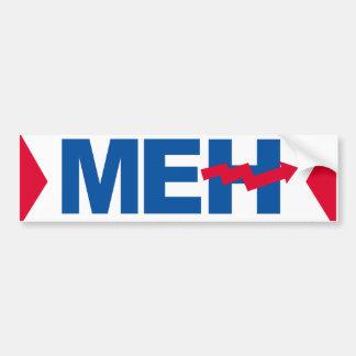 Meh Hillary - Crooked H -- -  Bumper Sticker